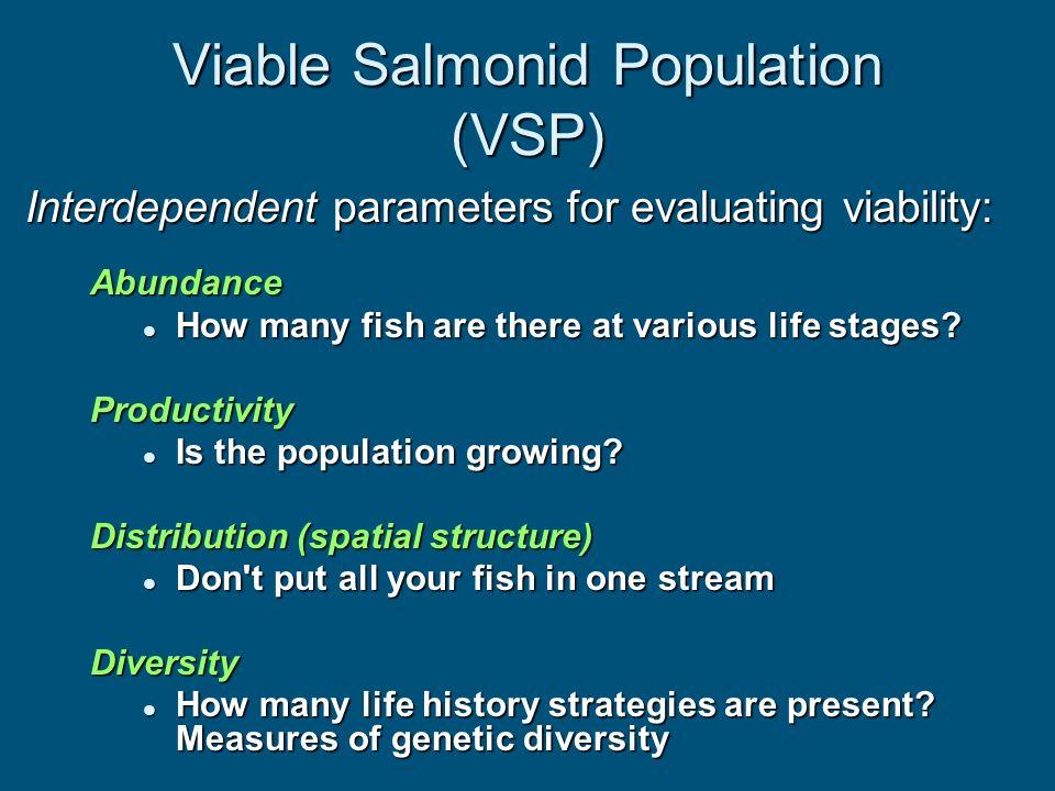 Viable Salmonid Population (VSP)
