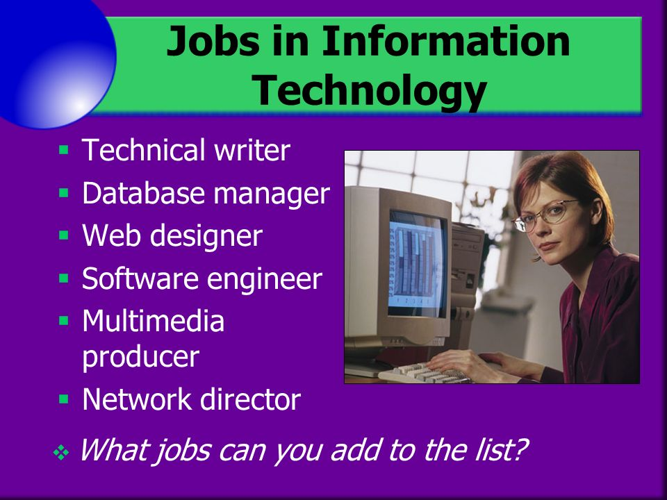 jobs in information technology - Information Technology Responsibilities