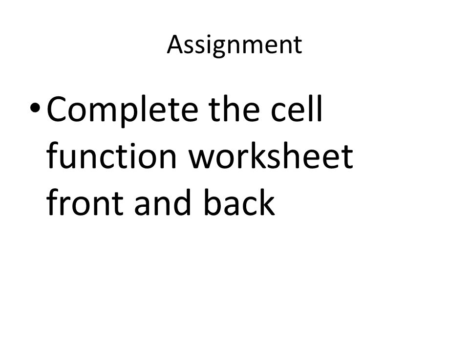 Life Science Chapter 3 Cells ppt video online download – Cell Function Worksheet