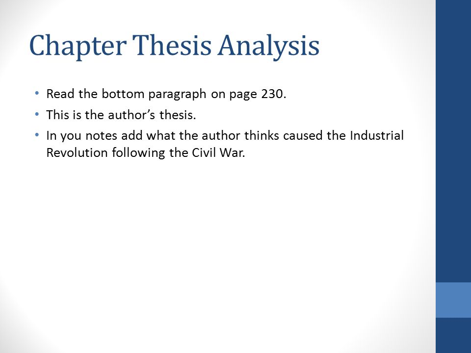 Thesis analysis chapter