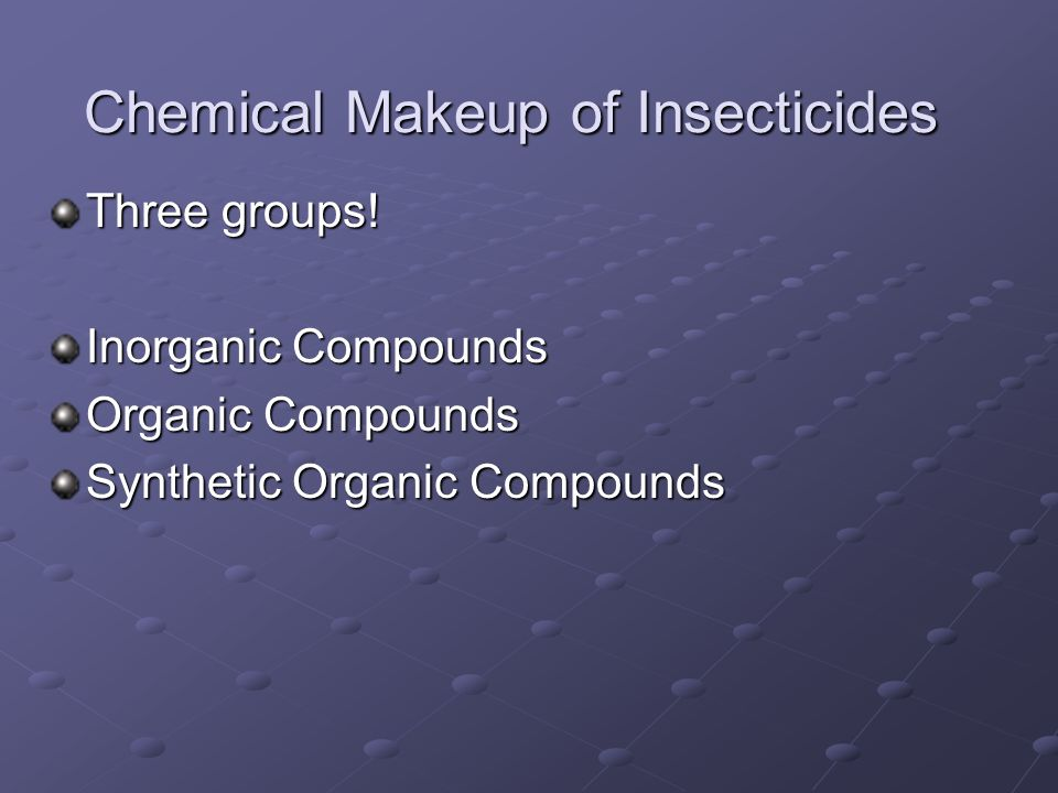 Chemical Makeup of Insecticides