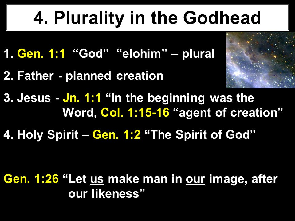 The Godhead 1 Aim To Explain Some Of The View That