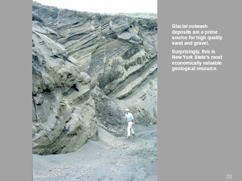 Glacial outwash deposits are a prime source for high quality sand and gravel.