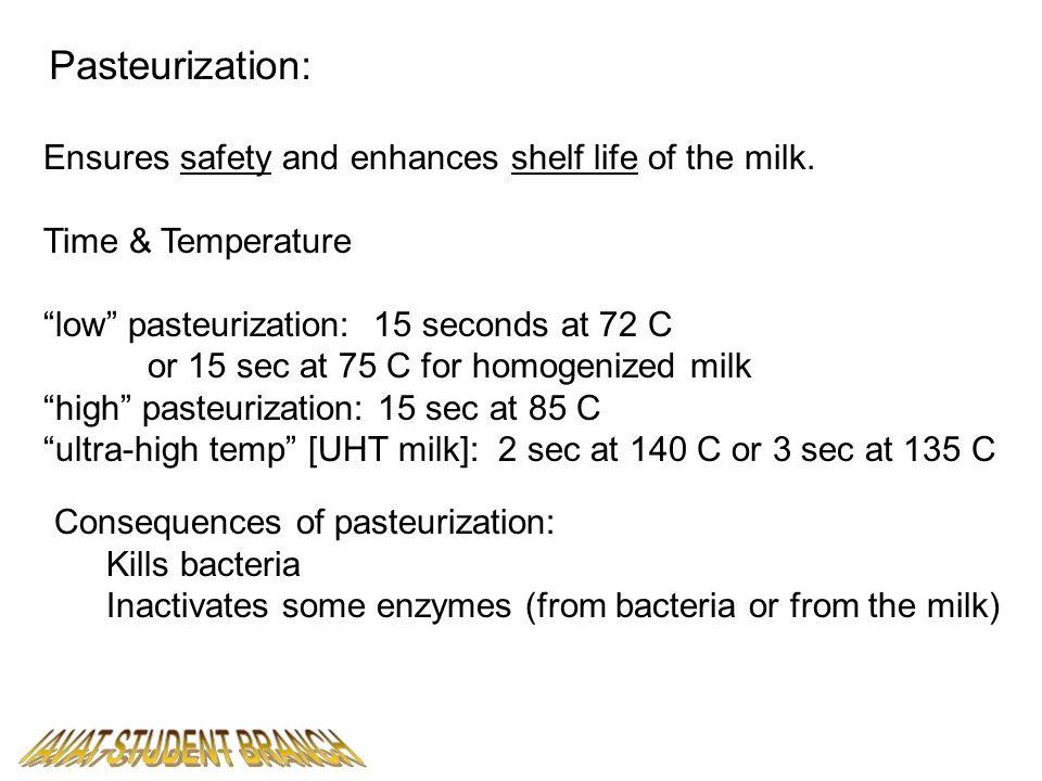 IAVAT STUDENT BRANCH Pasteurization: