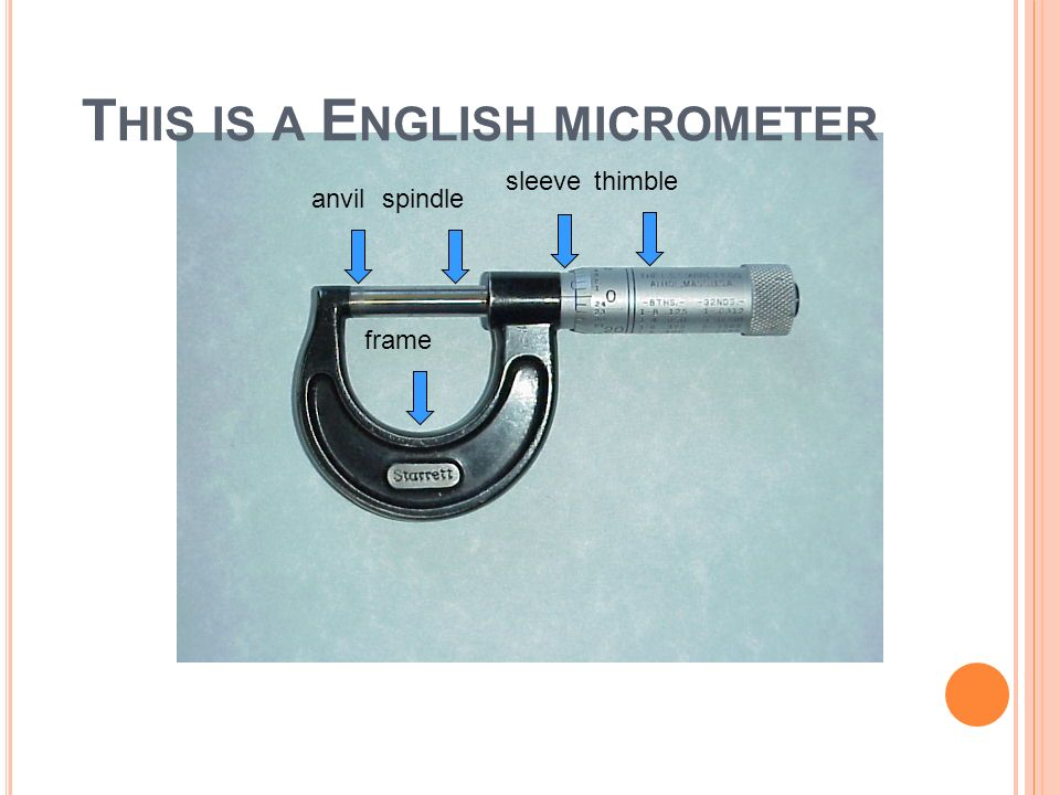 This is a English micrometer