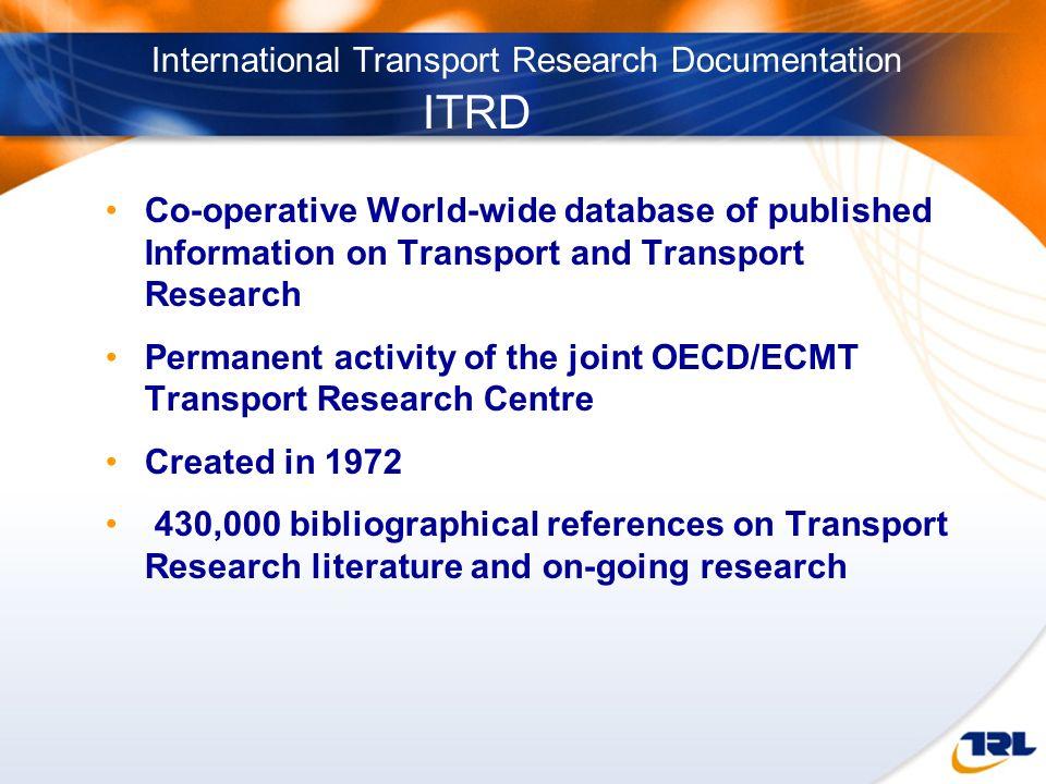 International Transport Research Documentation ITRD