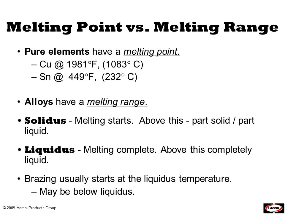 Melting Point vs. Melting Range