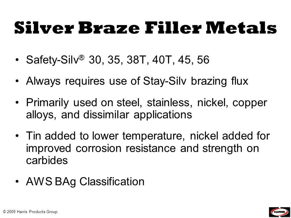 Silver Braze Filler Metals