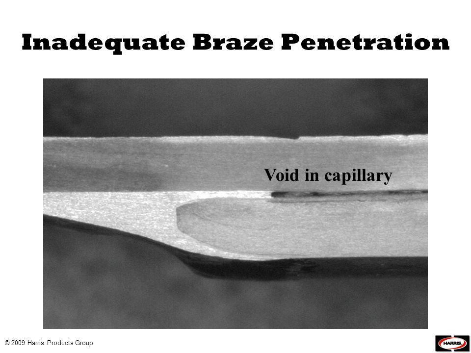 Inadequate Braze Penetration