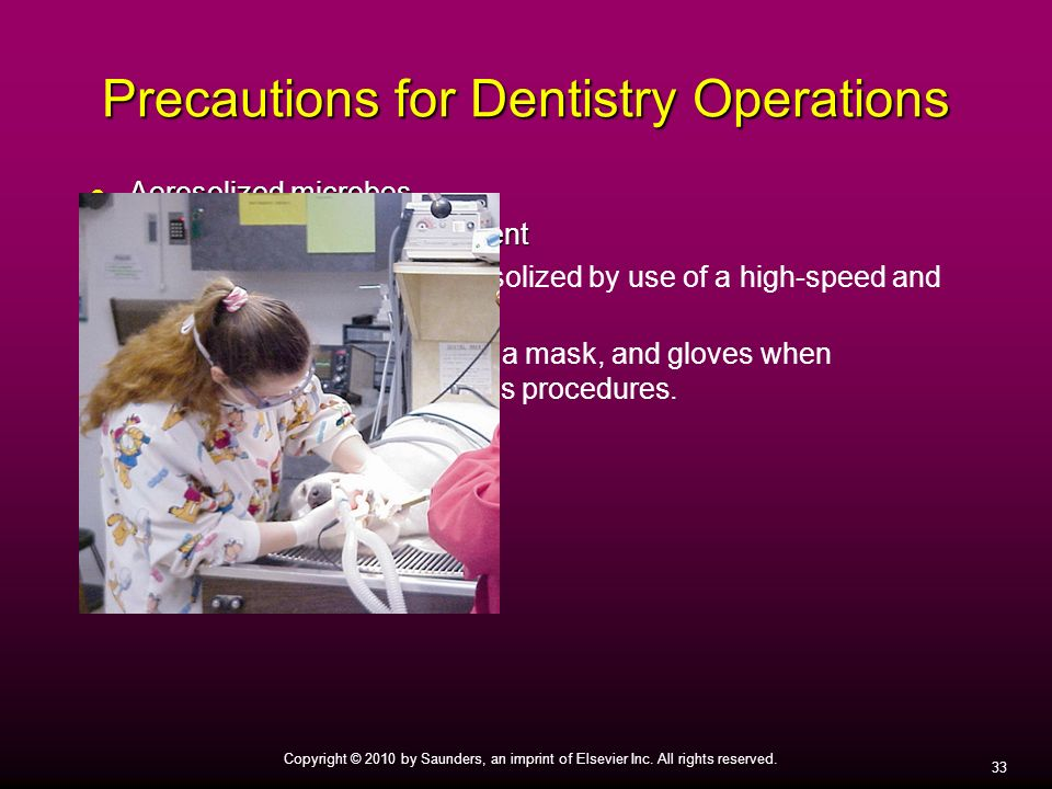 Precautions for Dentistry Operations