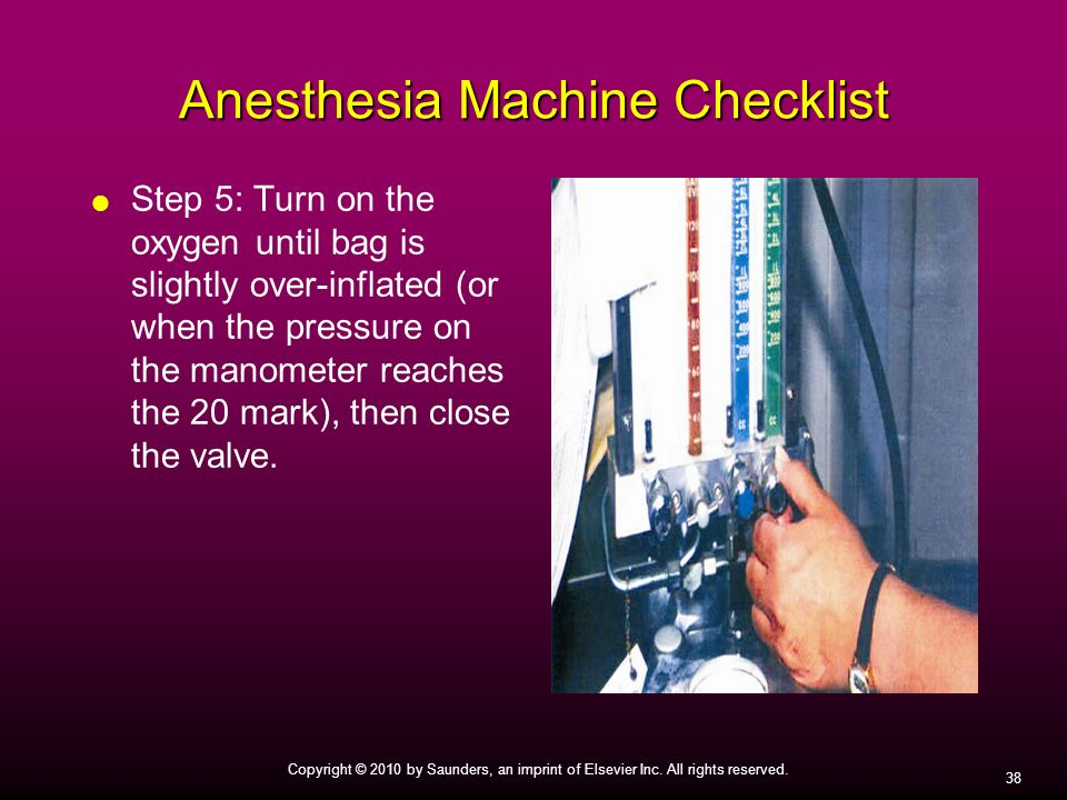 Anesthesia Machine Checklist