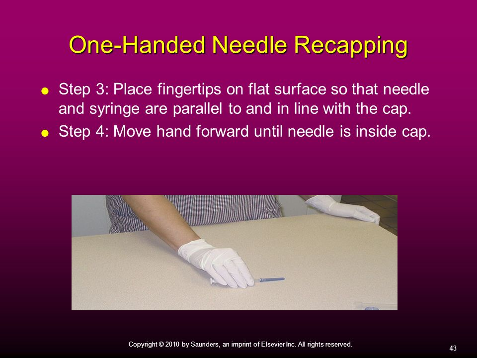 One-Handed Needle Recapping
