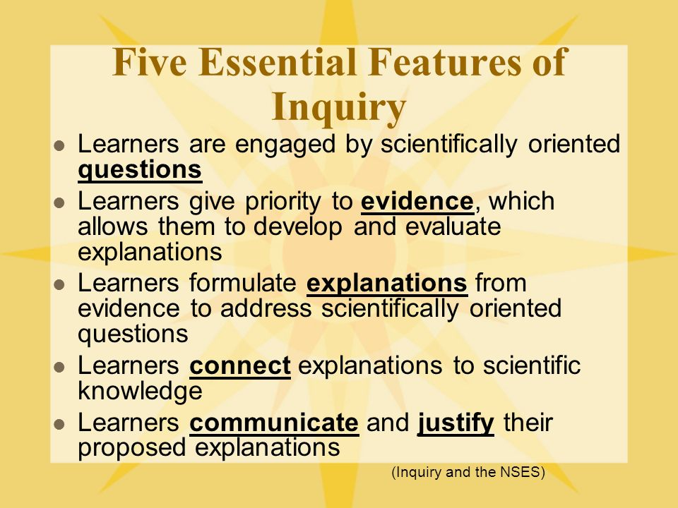 Five Essential Features of Inquiry