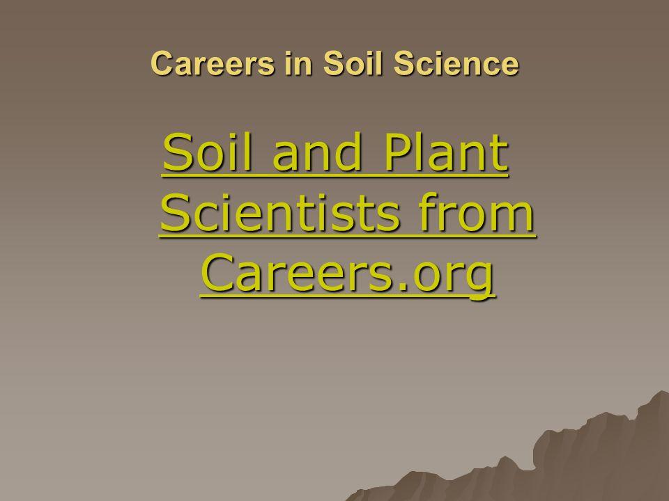 Careers in Soil Science