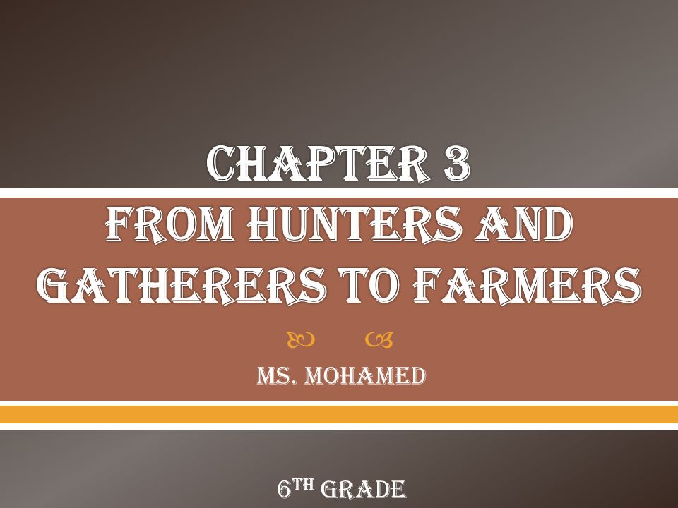from hunting and gathering to civilizations
