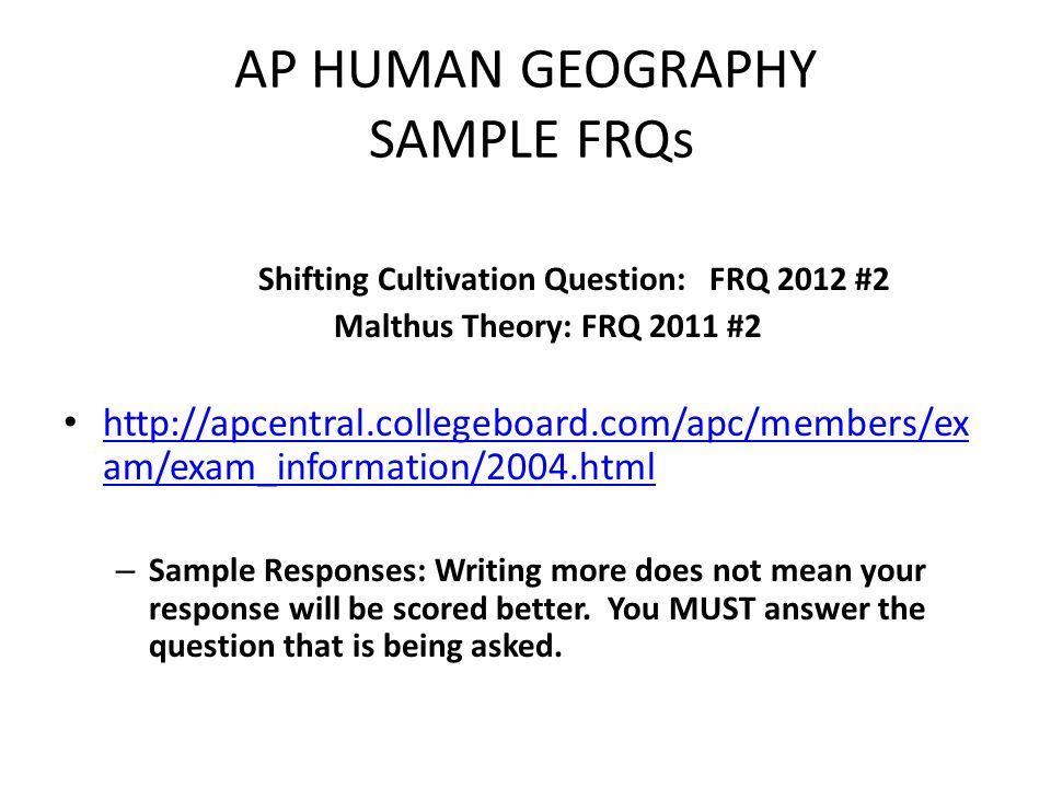ap human geography essay Ap human geography essay the population growth is biggest problem in old days and modern days there are lots of people that are born every hour and die every hour on the earth and still the population growth is getting bigger.