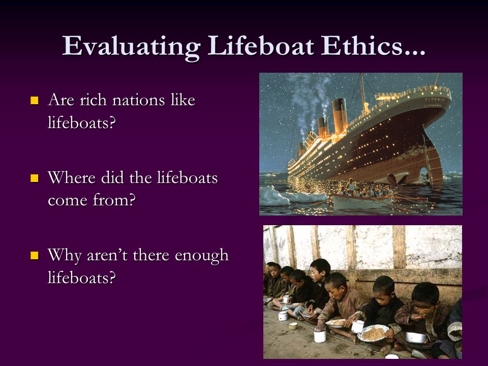 the effective concept of lifeboat ethics essay Part one of a two-part critique of garrett hardin's tragedy of the commons and lifeboat ethics a revised and expanded version is forthcoming from changing suns press (.