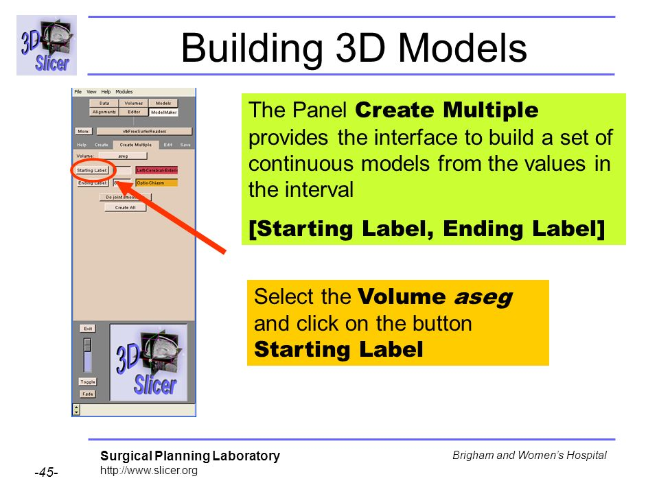 Building 3D Models The Panel Create Multiple provides the interface to build a set of continuous models from the values in the interval.