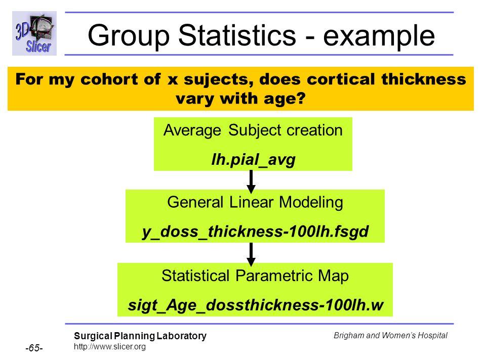 Group Statistics - example