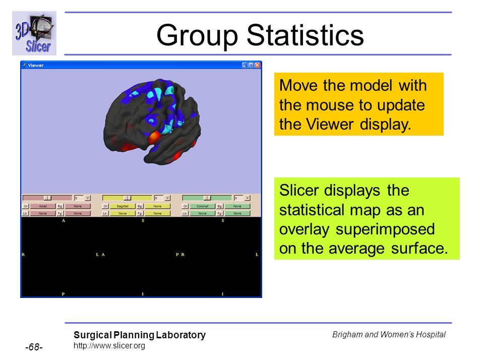 Group Statistics Move the model with the mouse to update the Viewer display.