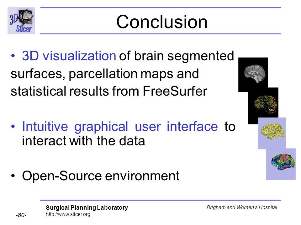 Conclusion 3D visualization of brain segmented