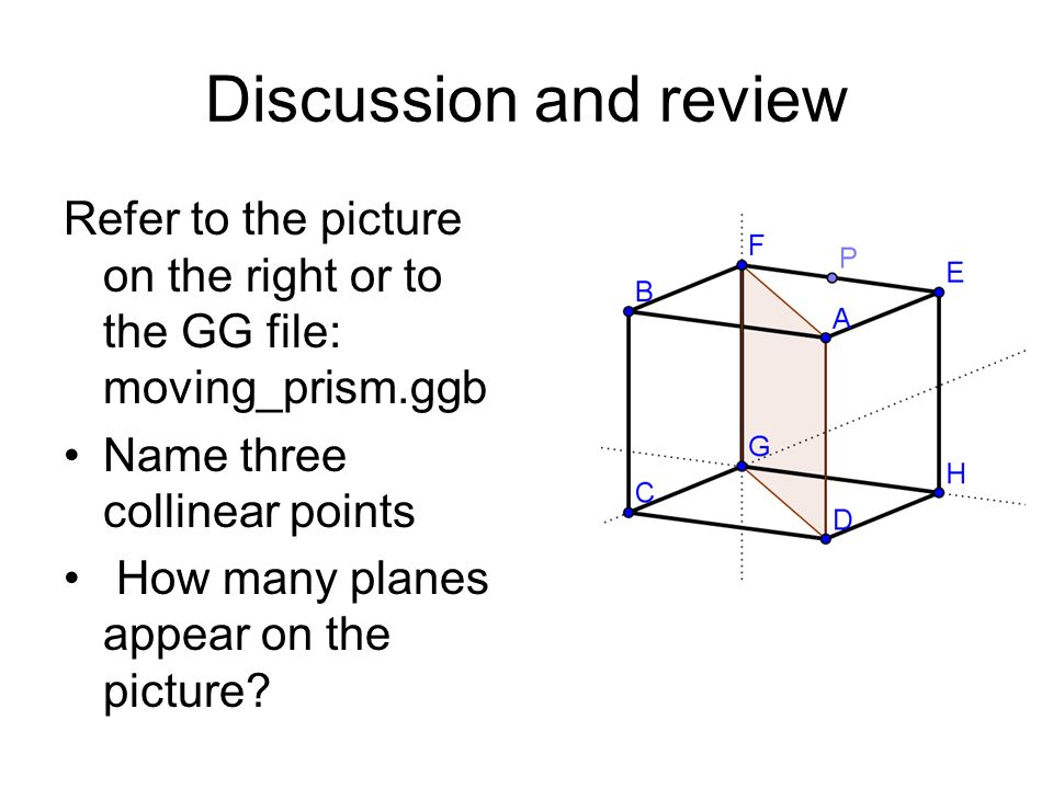 Geometry: Points, Lines, Planes, and Angles - ppt video ... Three Collinear Points