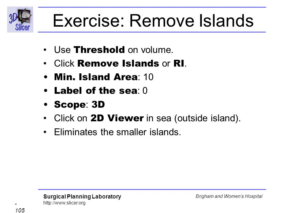 Exercise: Remove Islands