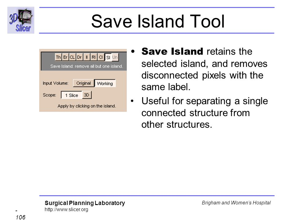 Save Island Tool Save Island retains the selected island, and removes disconnected pixels with the same label.