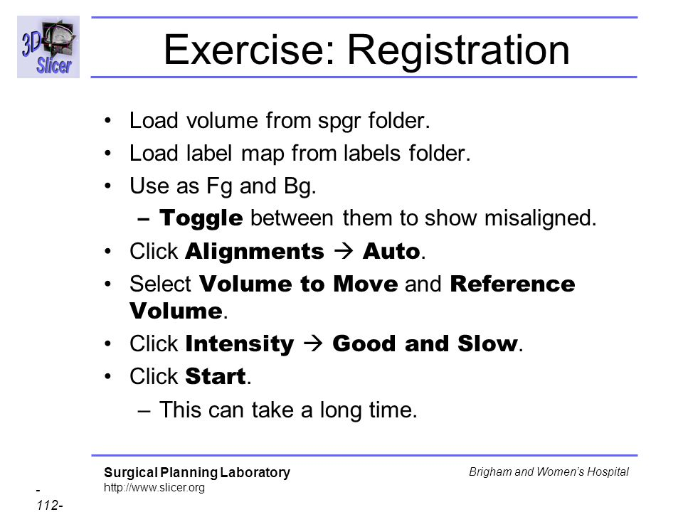 Exercise: Registration