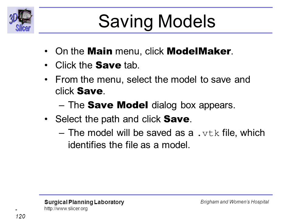 Saving Models On the Main menu, click ModelMaker. Click the Save tab.