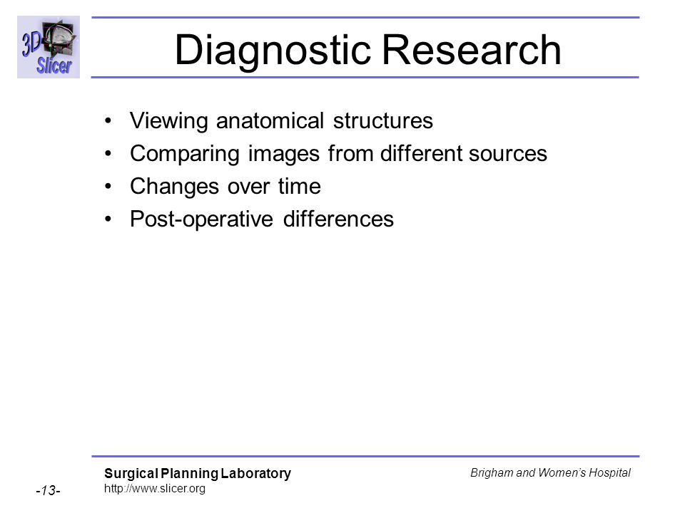 Diagnostic Research Viewing anatomical structures