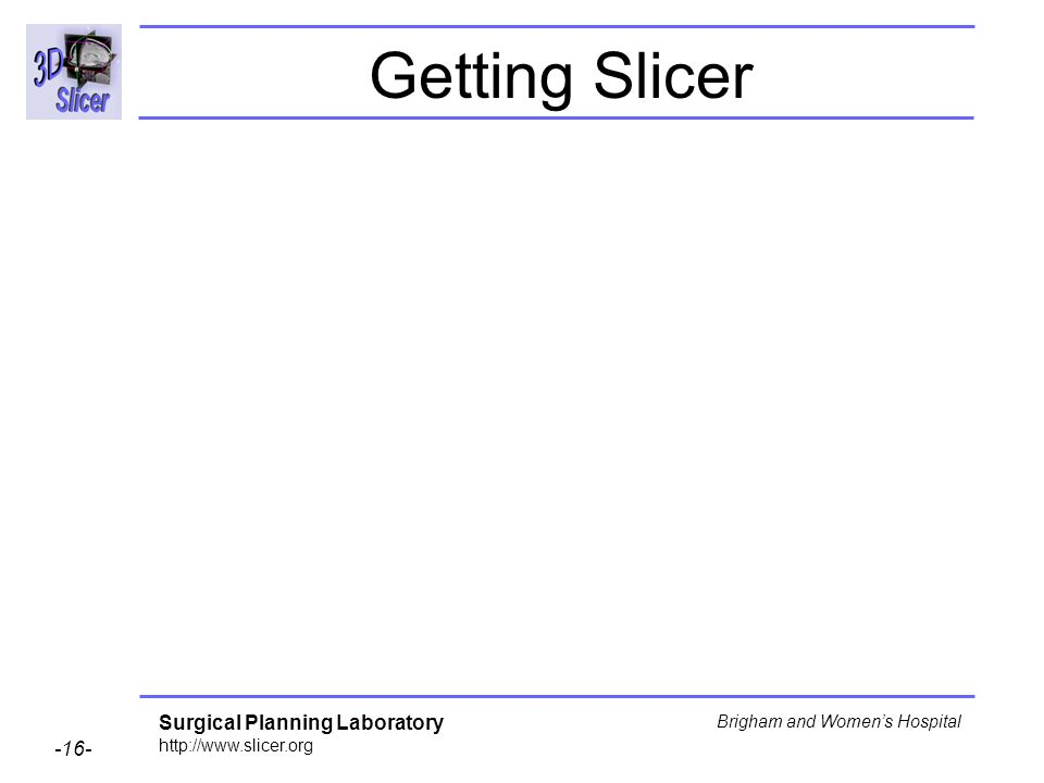 Getting Slicer
