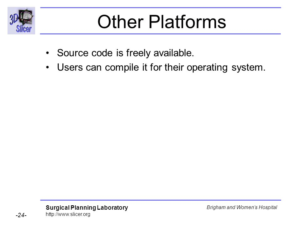 Other Platforms Source code is freely available.