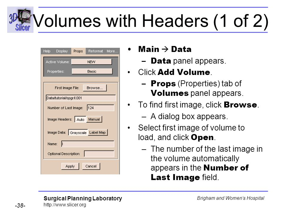 Volumes with Headers (1 of 2)