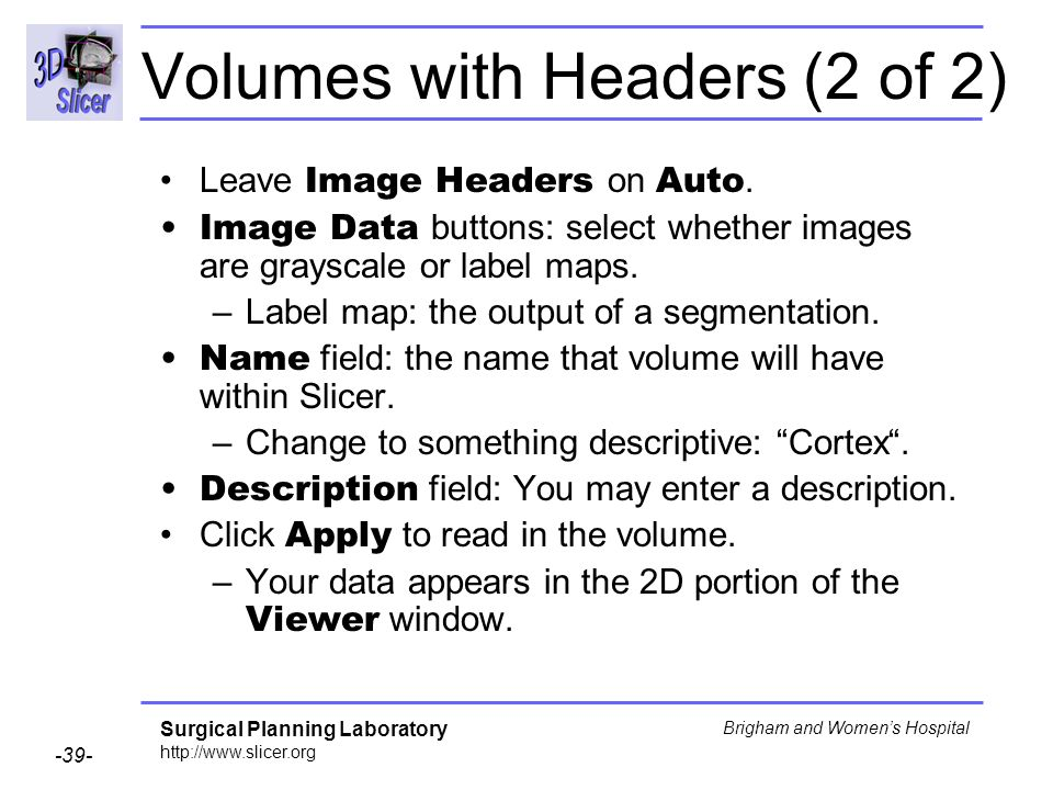 Volumes with Headers (2 of 2)