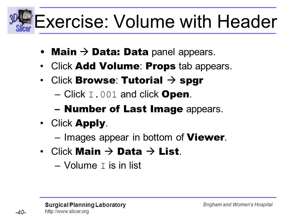 Exercise: Volume with Header
