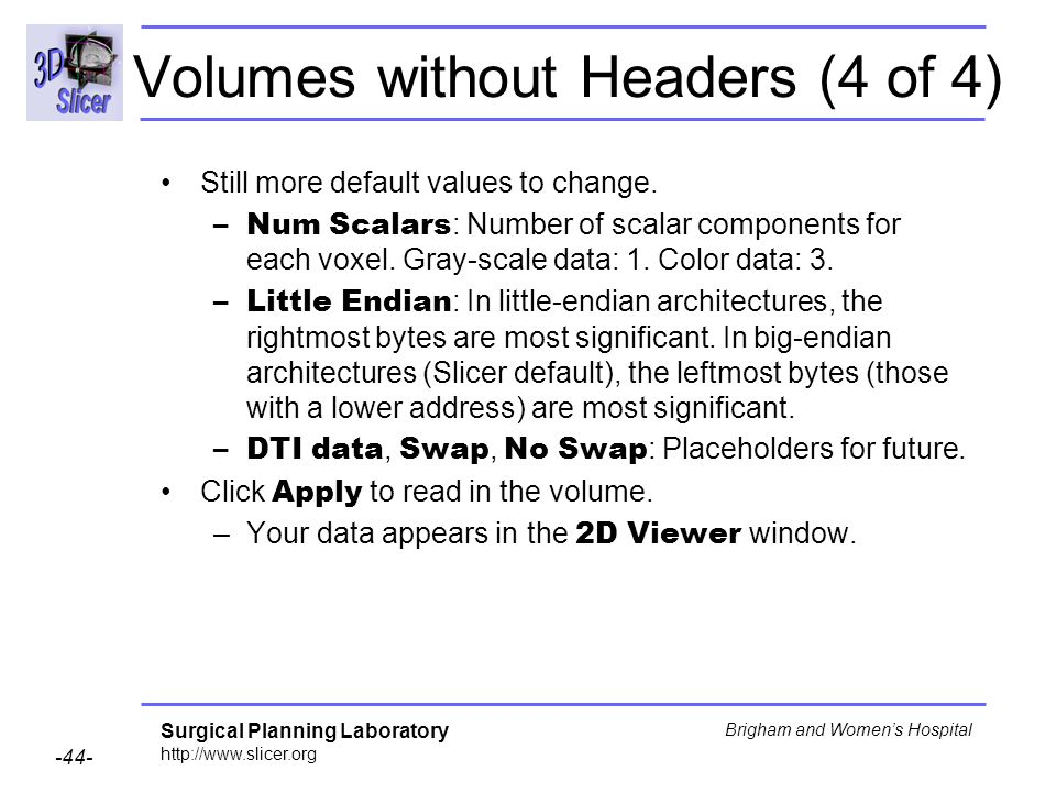 Volumes without Headers (4 of 4)