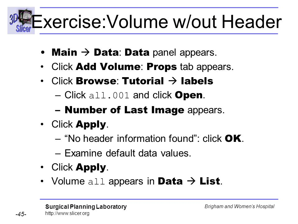 Exercise:Volume w/out Header