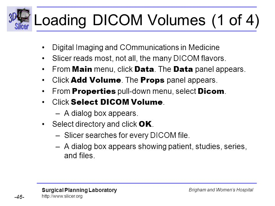 Loading DICOM Volumes (1 of 4)