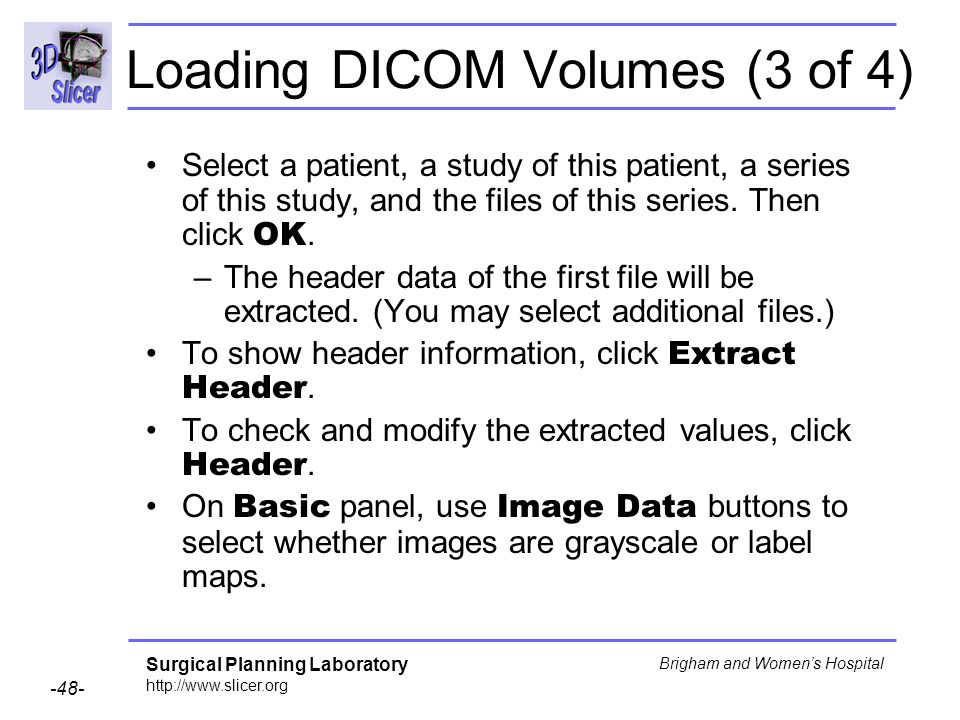 Loading DICOM Volumes (3 of 4)
