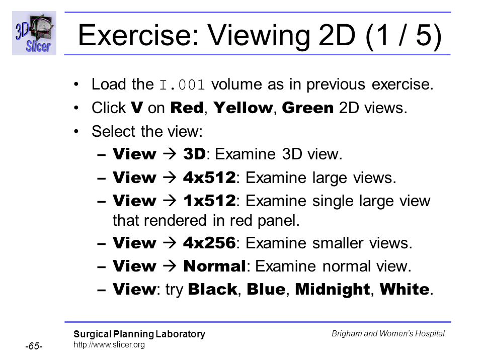 Exercise: Viewing 2D (1 / 5)