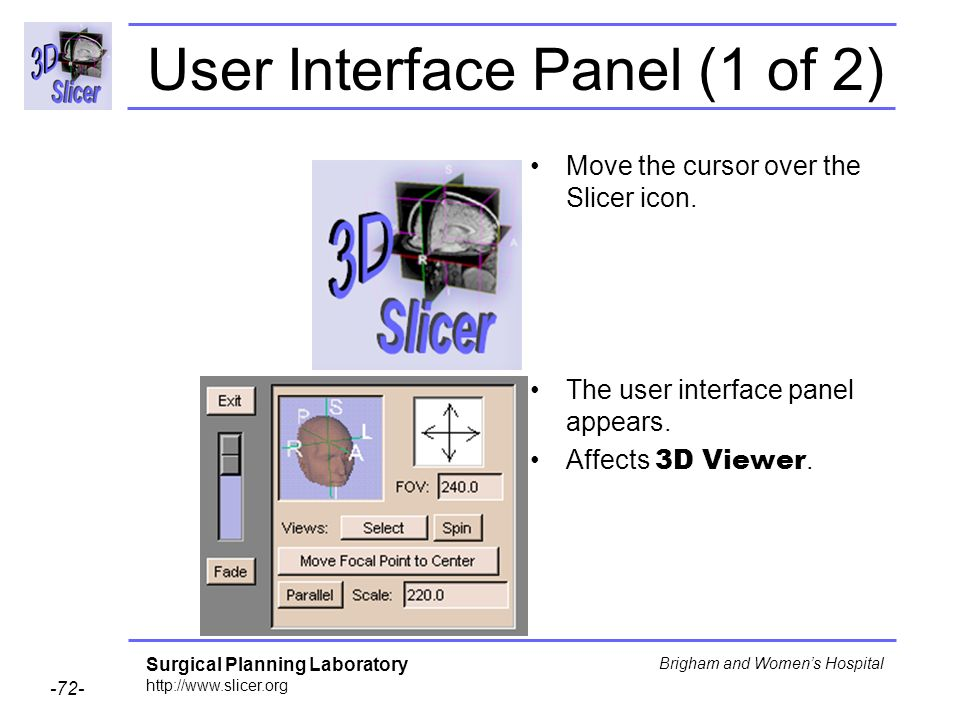 User Interface Panel (1 of 2)