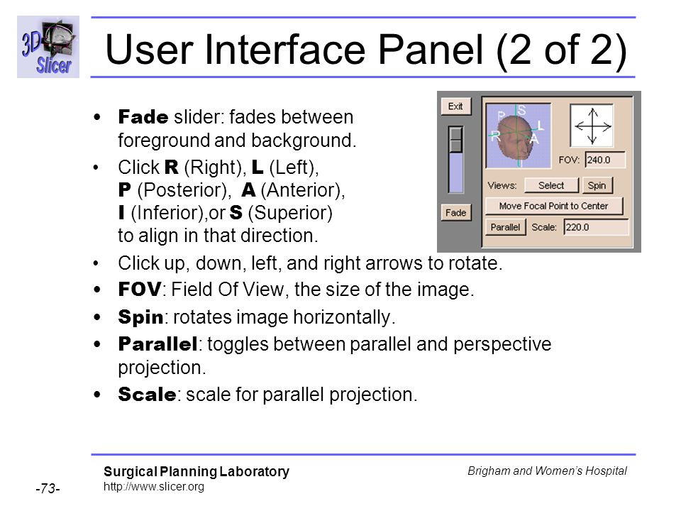 User Interface Panel (2 of 2)