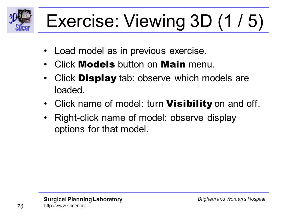 Exercise: Viewing 3D (1 / 5)