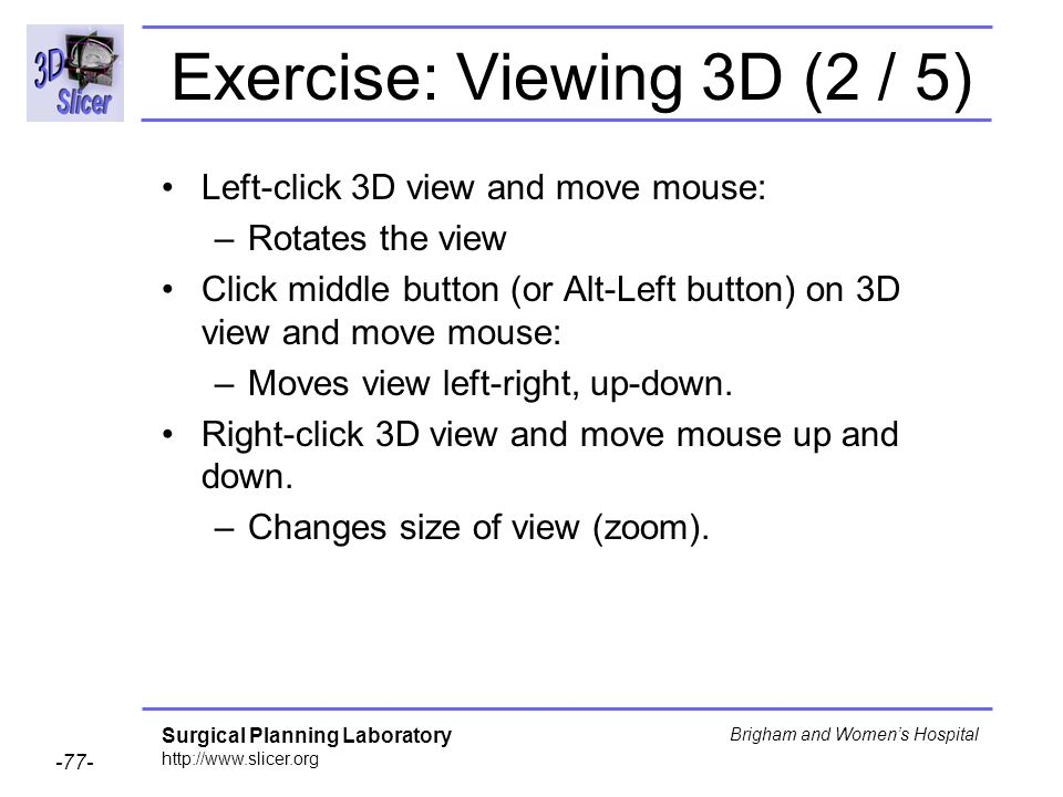 Exercise: Viewing 3D (2 / 5)