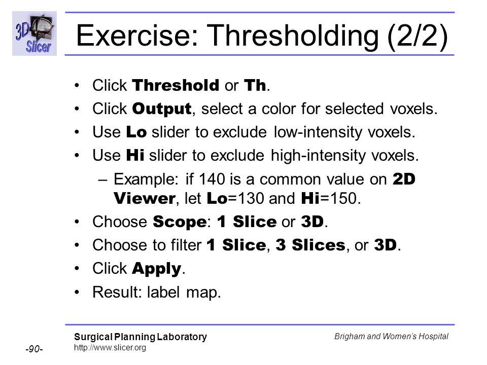 Exercise: Thresholding (2/2)