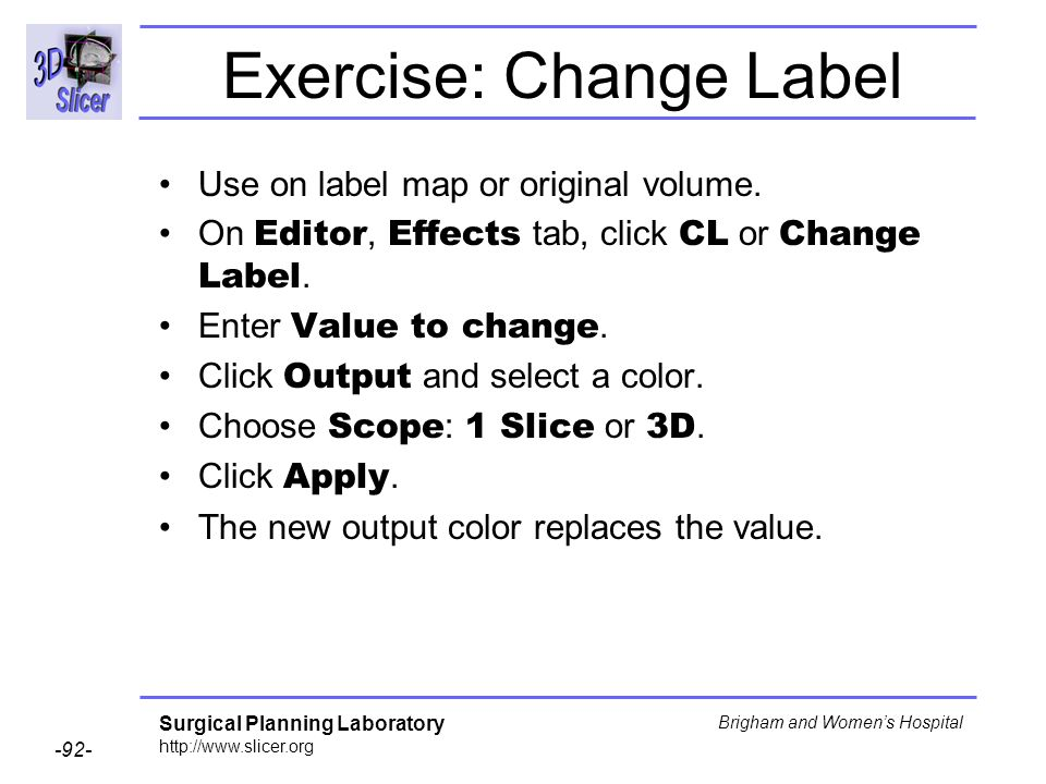 Exercise: Change Label