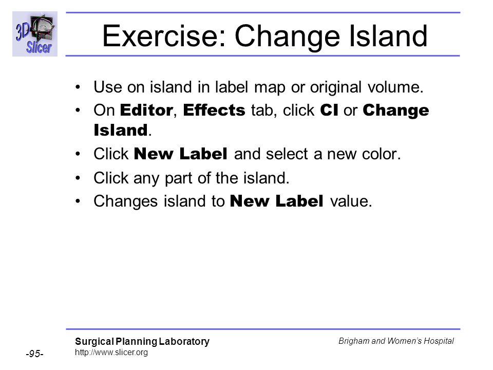 Exercise: Change Island