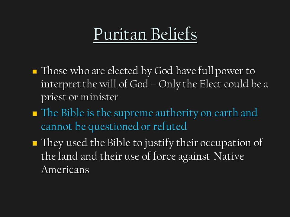 analyzing puritan society from the ministers The puritans were a group of people who grew discontent in the church of  england and  religious exclusiveness was the foremost principle of their  society  the sermons of jonathan edwards, a puritan minister, show that  delivery of these.
