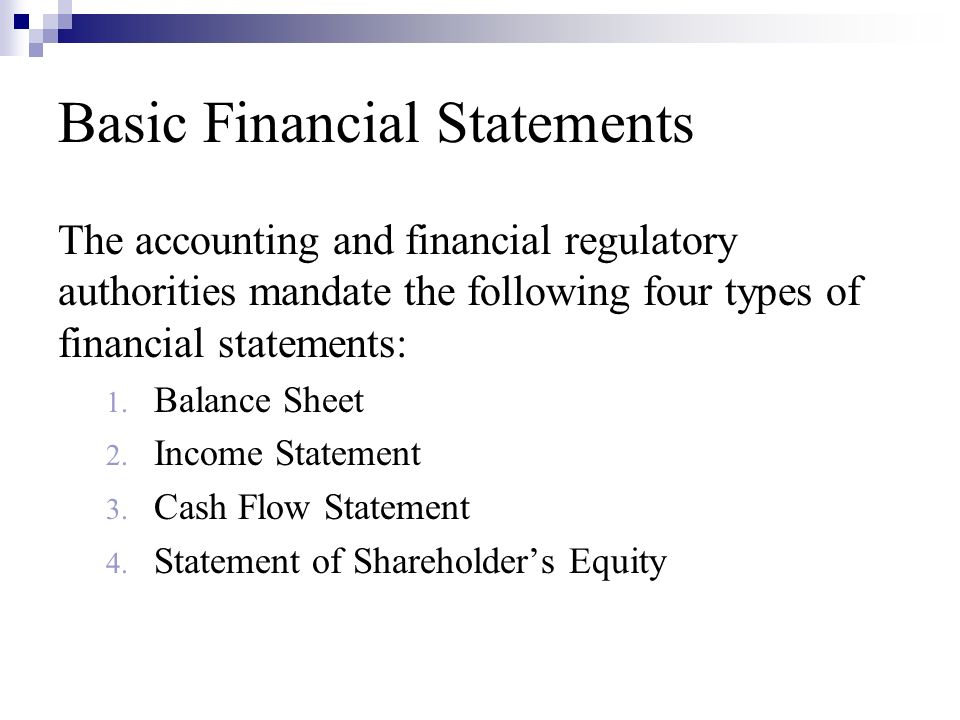 types of financial statements pdf